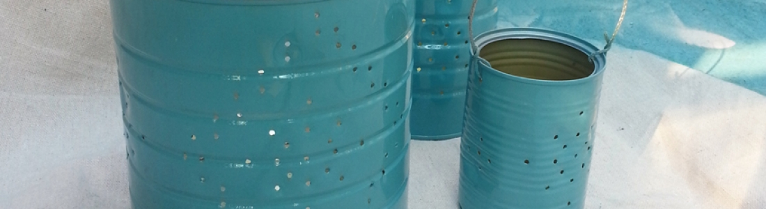 Creating Custom Lanterns by Recycling Your Old Tin Cans